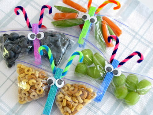 Kids food: butterfly snack packs
