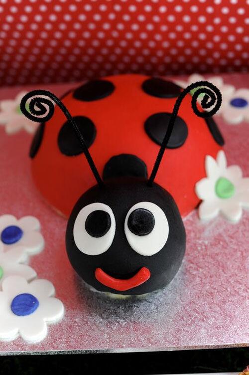 Ladybug cake by Jodie Burt Gerretze