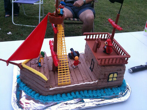 Pirate ship cake by Roxanne Hodda