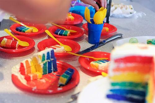 Rainbow cake by Jodie Burt Gerretze