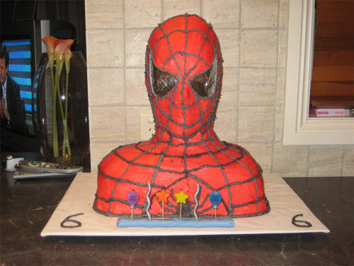 Spiderman cake by Lachlan and Kimberley Julian