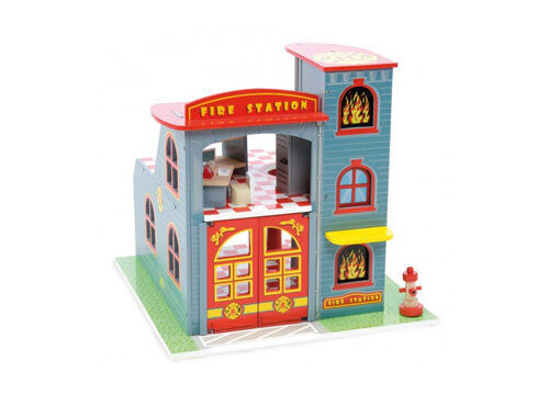 Le Toy Van Wooden Fire Station Play Set