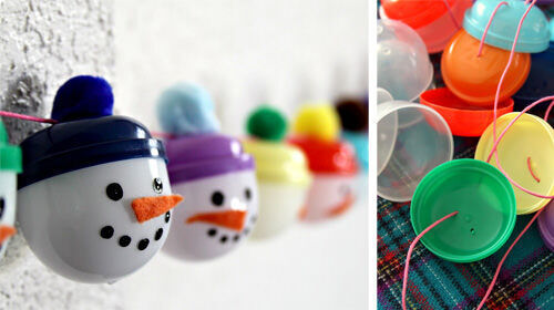 Advent calandar: snowman garlands