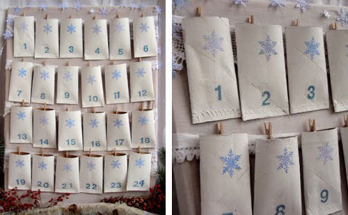 Advent calendar: toilet rolls