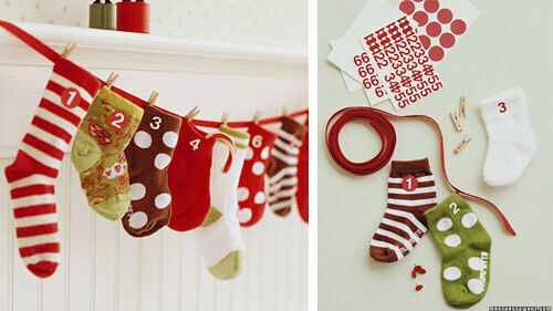 Advent calendar: baby socks