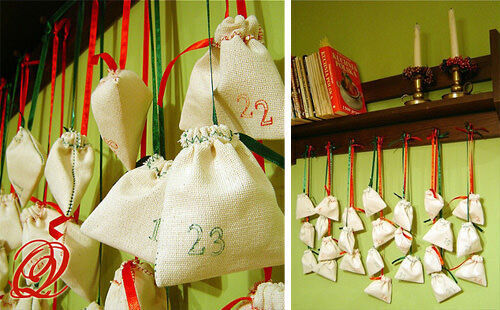 Advent calendar: cloth bags