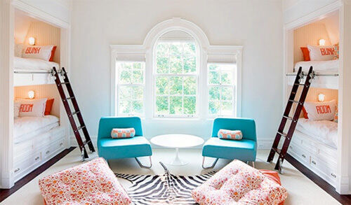 Bunk beds: girls' shared room