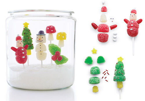 Christmas scene in a jar