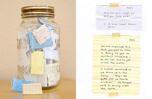Memories in a jar