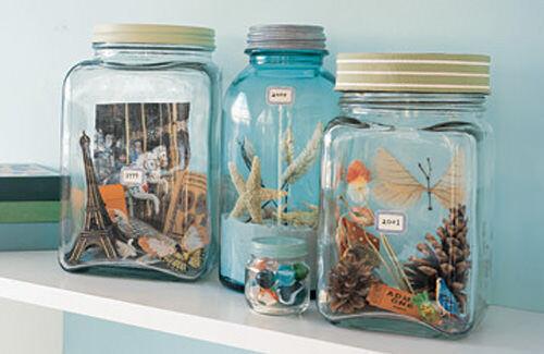 Holiday memories displayed in a jar