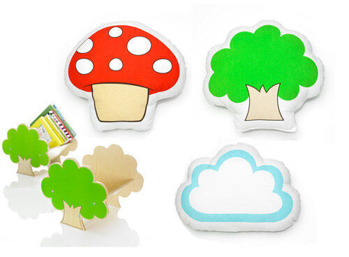 Go Home Junior cloud, tree and mushroom cushions
