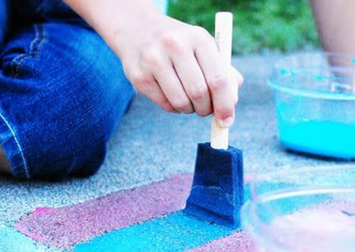Make your own pavement paint