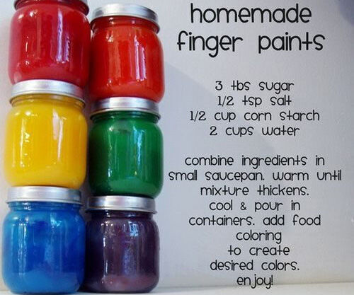Make your own finger paints