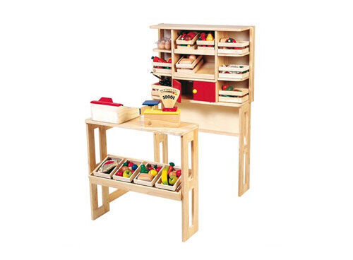 Santoys large wooden market stand