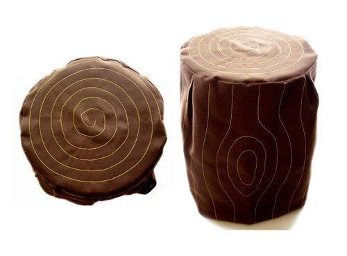 Naughts Amp Crosses Tree Stump Stool Cover