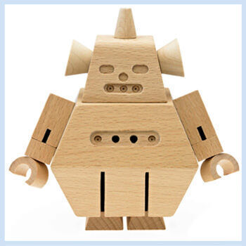Wooden robots by Go Home