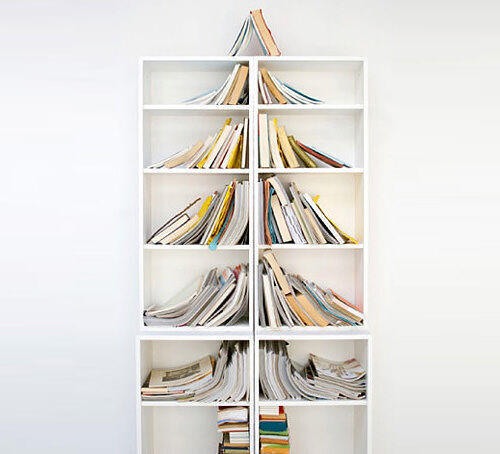 Christmas tree decor: book tree