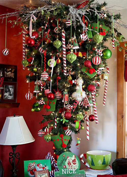 Christmas tree inspiration: upside down tree