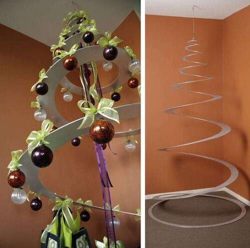 Christmas tree decor: spiral tree