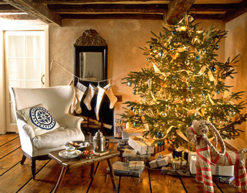 Christmas decor: cottage feel