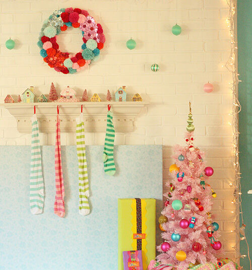 Christmas decor: candy colours