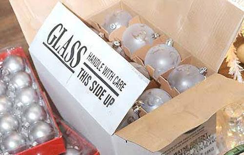 Christmas storage - wine bottle box