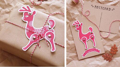 Reindeer gift tag free printable