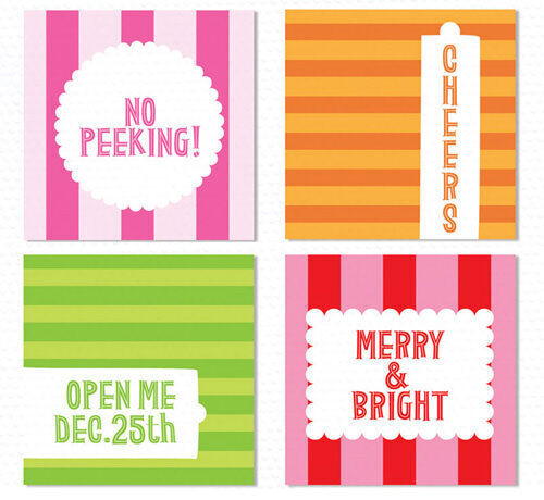 Design Editor free Christmas printable gift tags