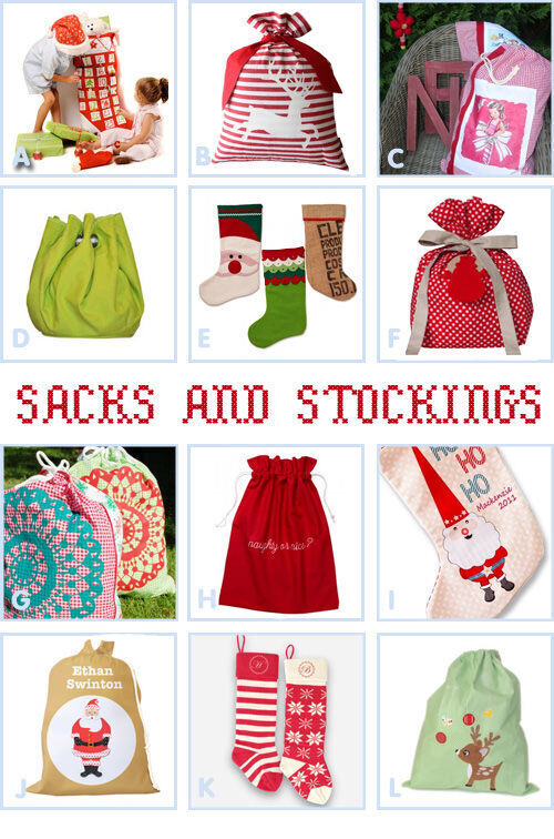 Santa sacks and Christmas stockings