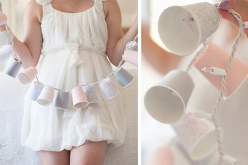 Christmas craft - paper cup fairy lights