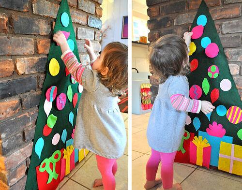 Christmas craft - felt tree