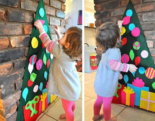 Christmas craft - felt tree