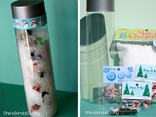 Christmas craft - peek-a-boo tube