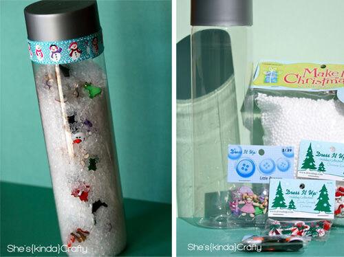 Christmas craft - peek-a-boo tube