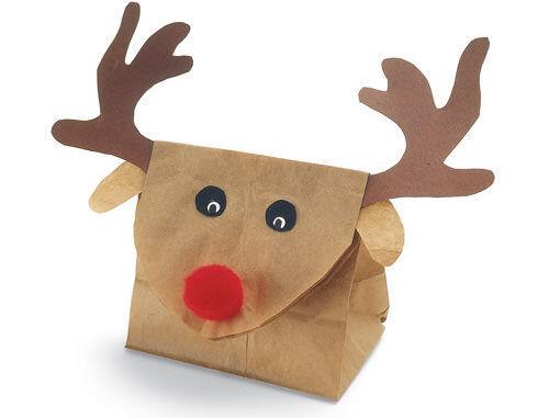 Christmas craft - reindeer gift bag