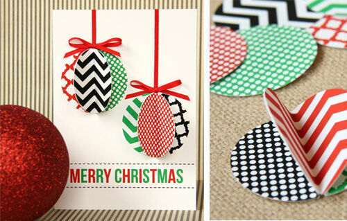 Christmas craft - ornament card