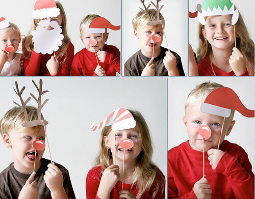 Christmas craft - photo booth props