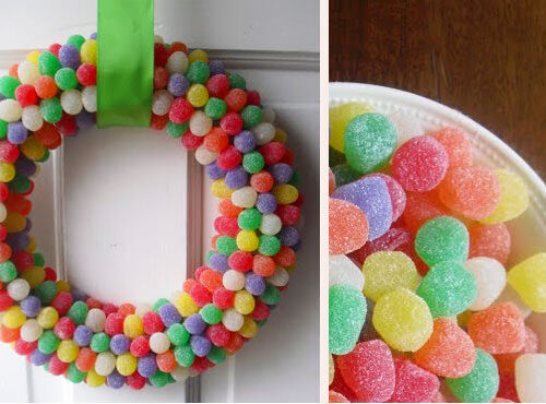 Christmas craft - gumdrop wreath