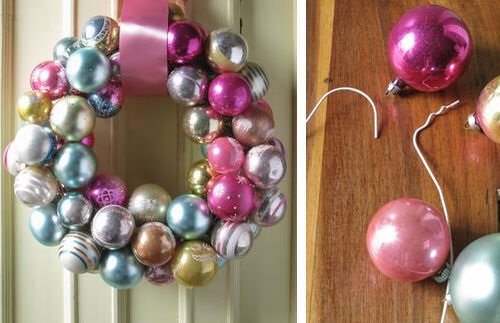 Christmas craft - bauble wreath
