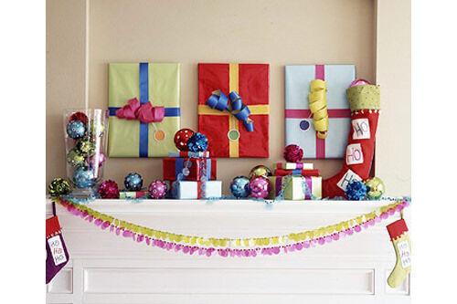 Christmas craft - wrapped artwork