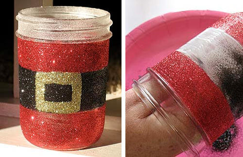Christmas craft - Santa candle holder