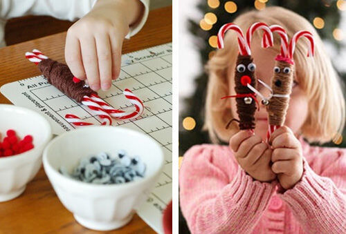 Christmas craft - reindeer candy canes