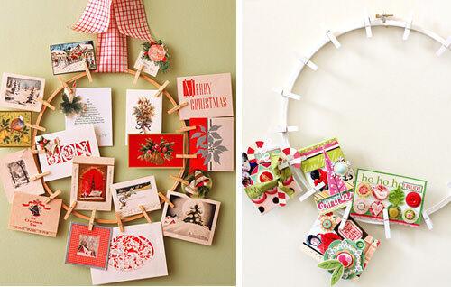 Christmas craft - peg wreath