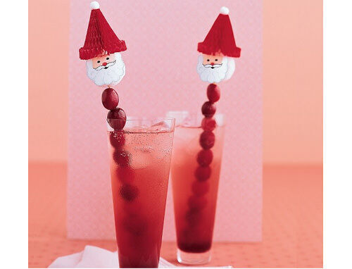 Santa swizzle sticks