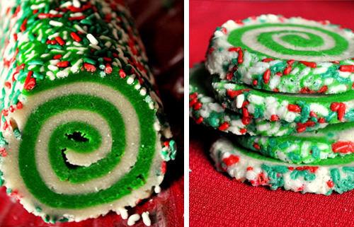 Chrsitmas swirl cookies