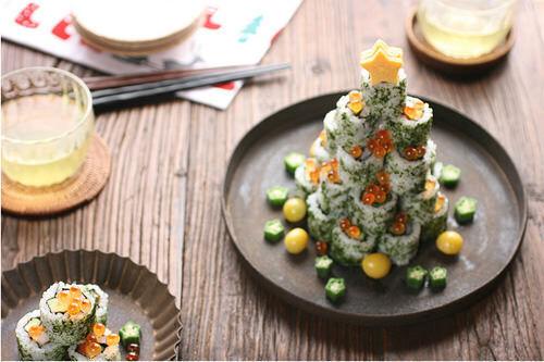 Sushi Christmas tree