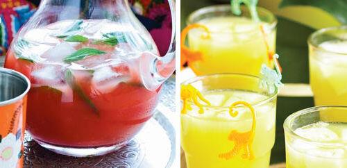 Keeping kids cool - making juices