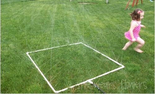Keeping kids cool - DIY sprinkler