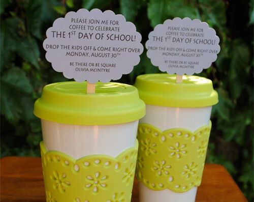 First day of school ideas: party for mums