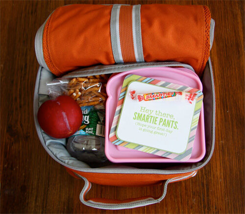 Back to school ideas: lunch box notes